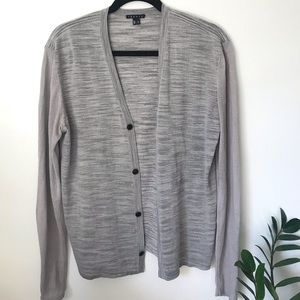 Gray Theory Button Down Cardigan